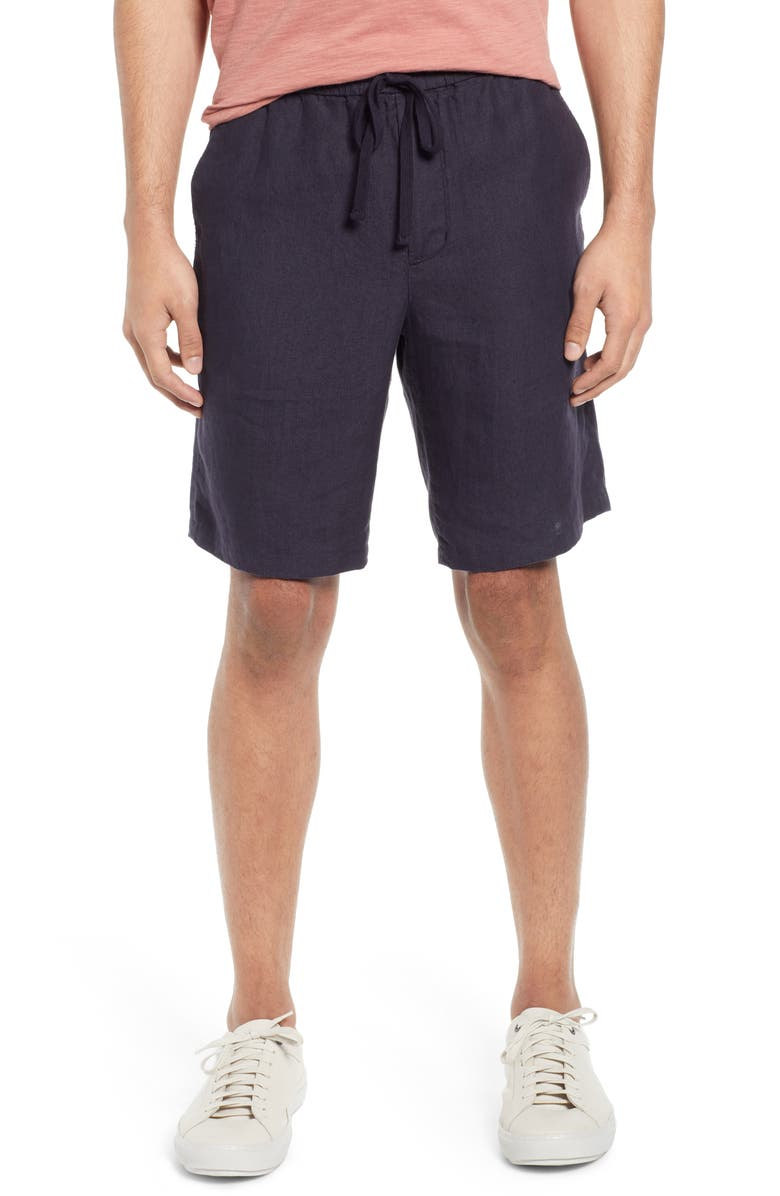 VINCE Drawstring Hemp Shorts, Main, color, COASTAL