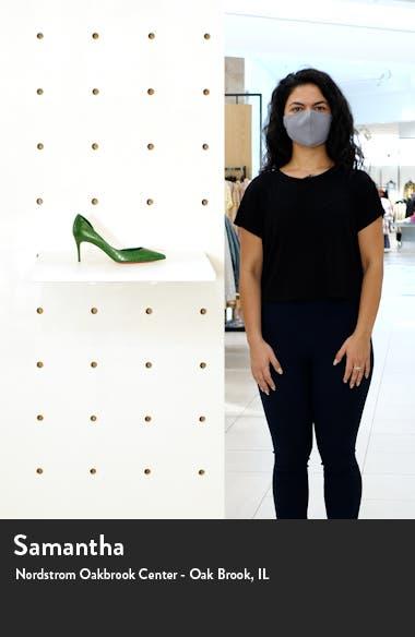 Iriza Croc Embossed Half d'Orsay Pump, sales video thumbnail