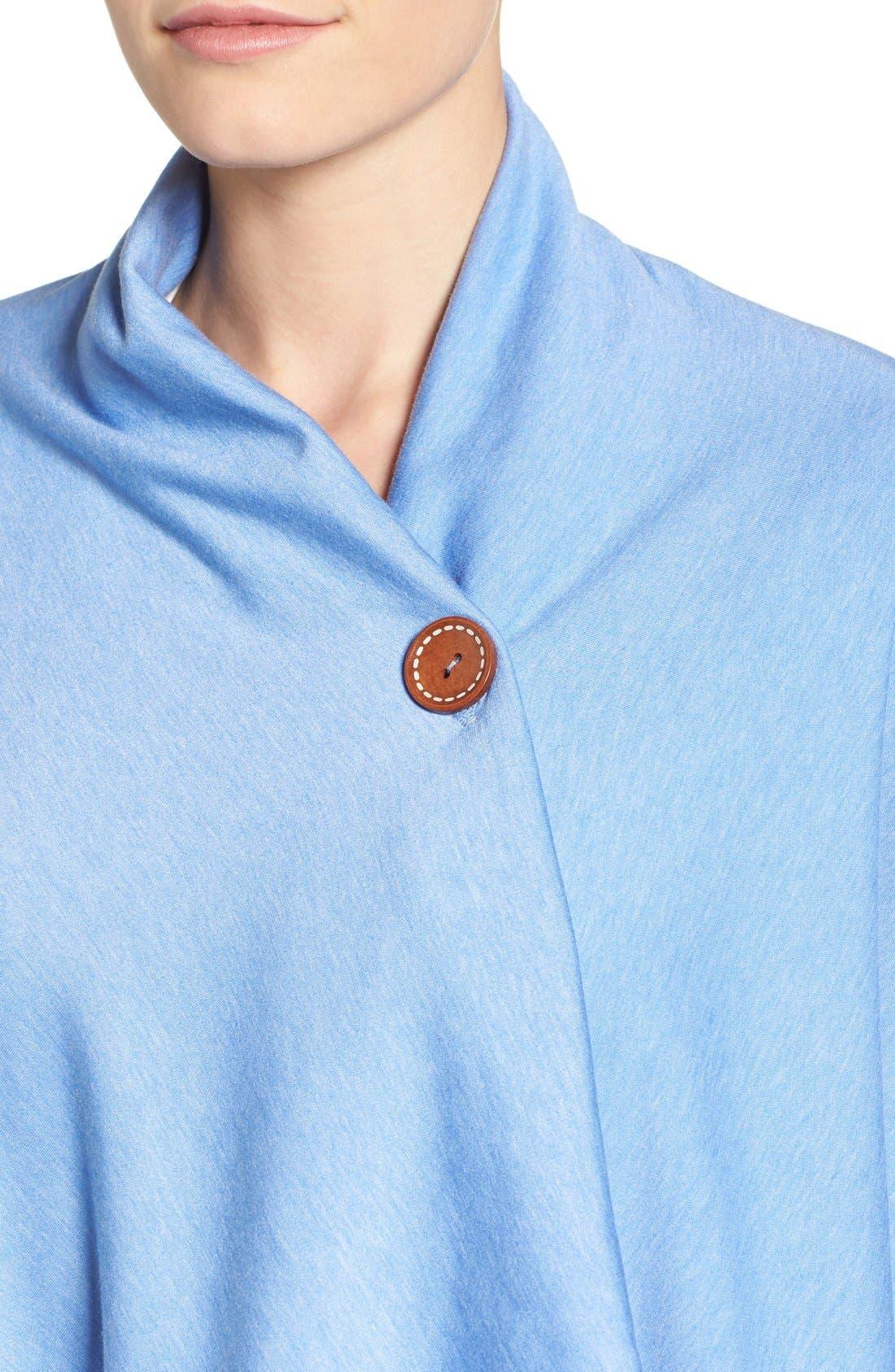 ,                             One-Button Fleece Wrap Cardigan,                             Alternate thumbnail 155, color,                             474