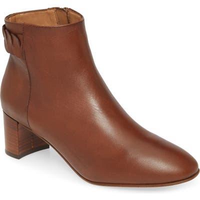 Aquatalia Feliciana Weatherproof Block Heel Bootie- Brown