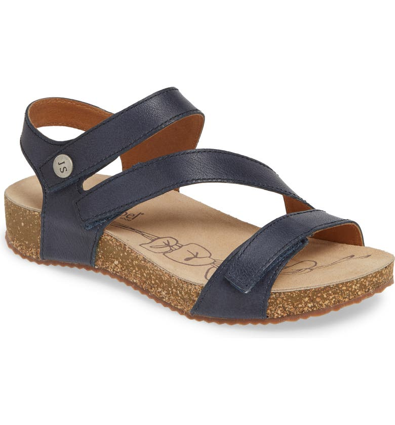 JOSEF SEIBEL 'Tonga' Leather Sandal, Main, color, BLUE