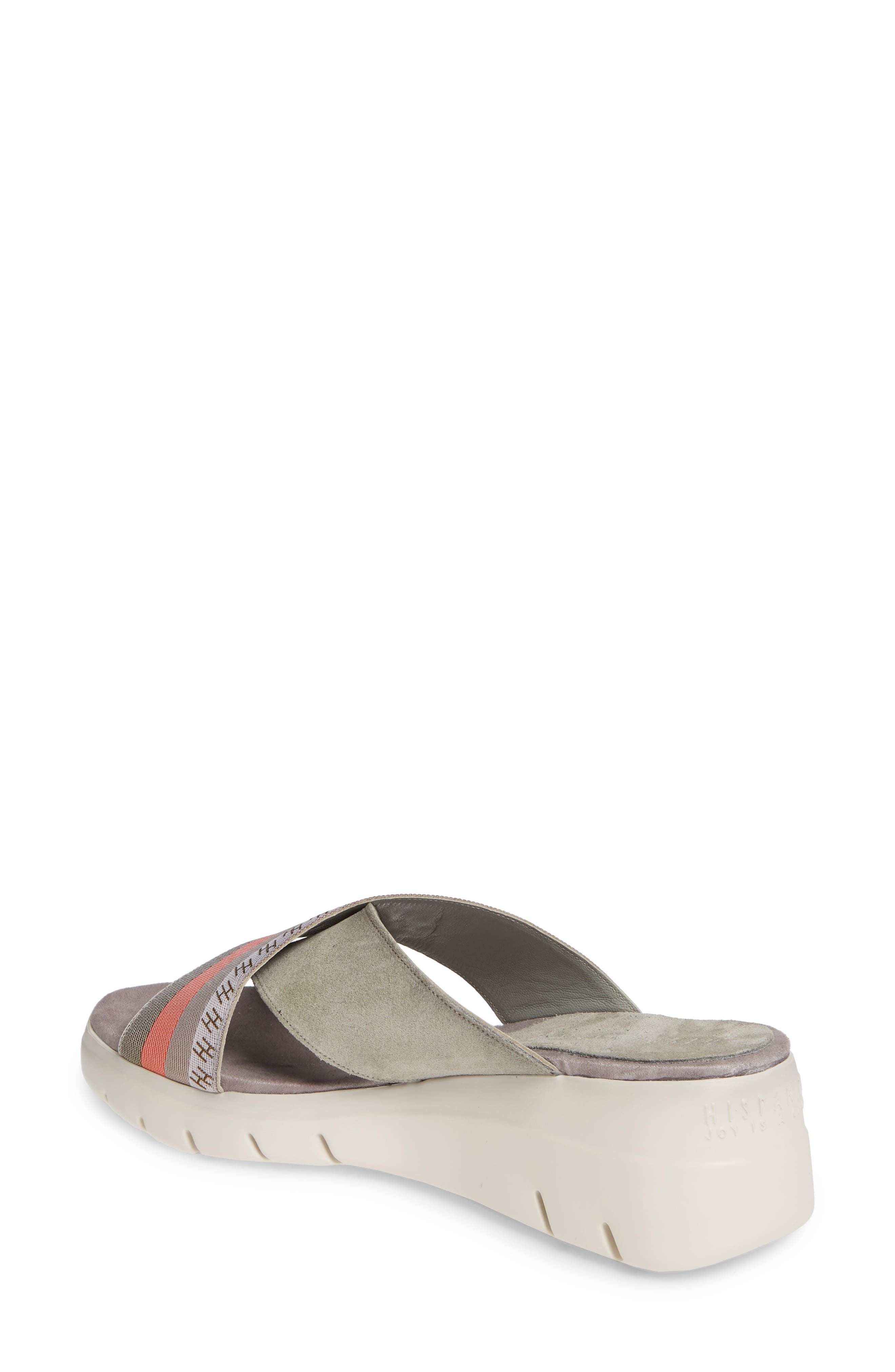 ,                             Magna Wedge Slide Sandal,                             Alternate thumbnail 2, color,                             WHITE FABRIC