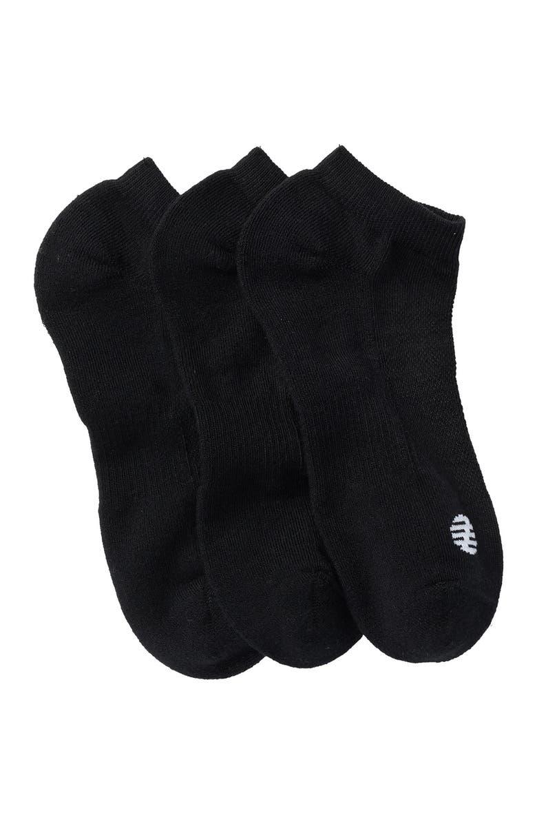 Z BY ZELLA Low Cut Sport Socks - Pack of 3, Main, color, Z BLACK