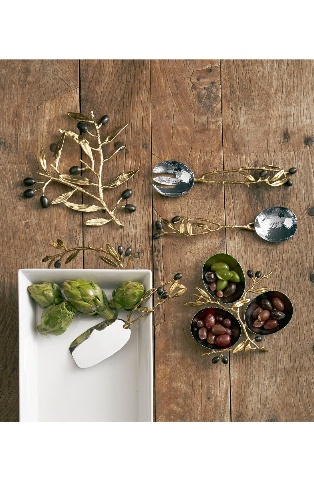 ,                             'Olive Branch Gold' Triple Dish,                             Alternate thumbnail 2, color,                             NO COLOR