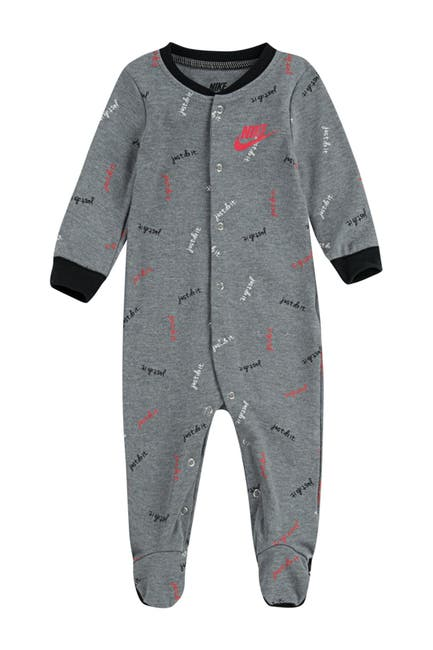 Image of Nike Logo Print Footed Coverall