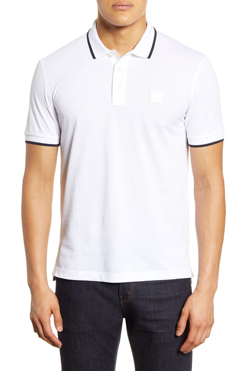 BOSS Parlay Polo Shirt, Main, color, WHITE