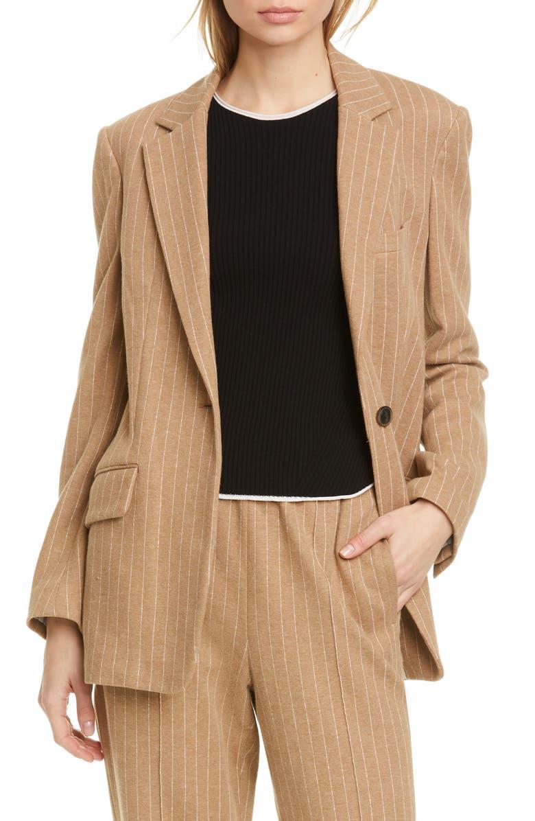 RAG & BONE Ames Pinstripe Cotton Blazer, Main, color, 250