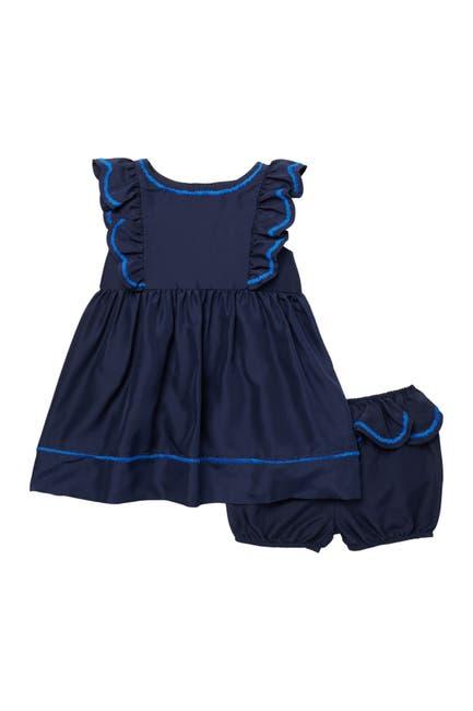 Image of Burberry Carrine Silk Ruffle Dress