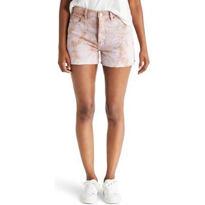 Etika Sydney High Waist Cutoff Denim Shorts, White