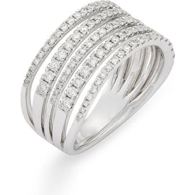 Bony Levy Monroe Stiletto Multi Row Diamond Band Ring (Nordstrom Exclusive)