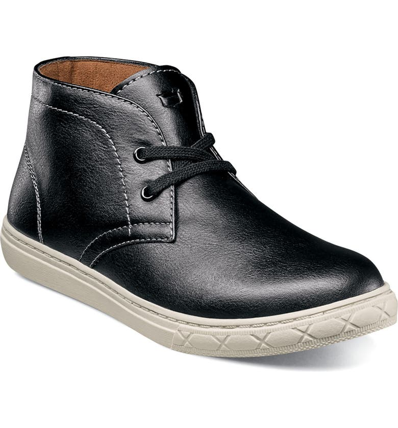 FLORSHEIM Curb Chukka Sneaker Boot, Main, color, BLACK