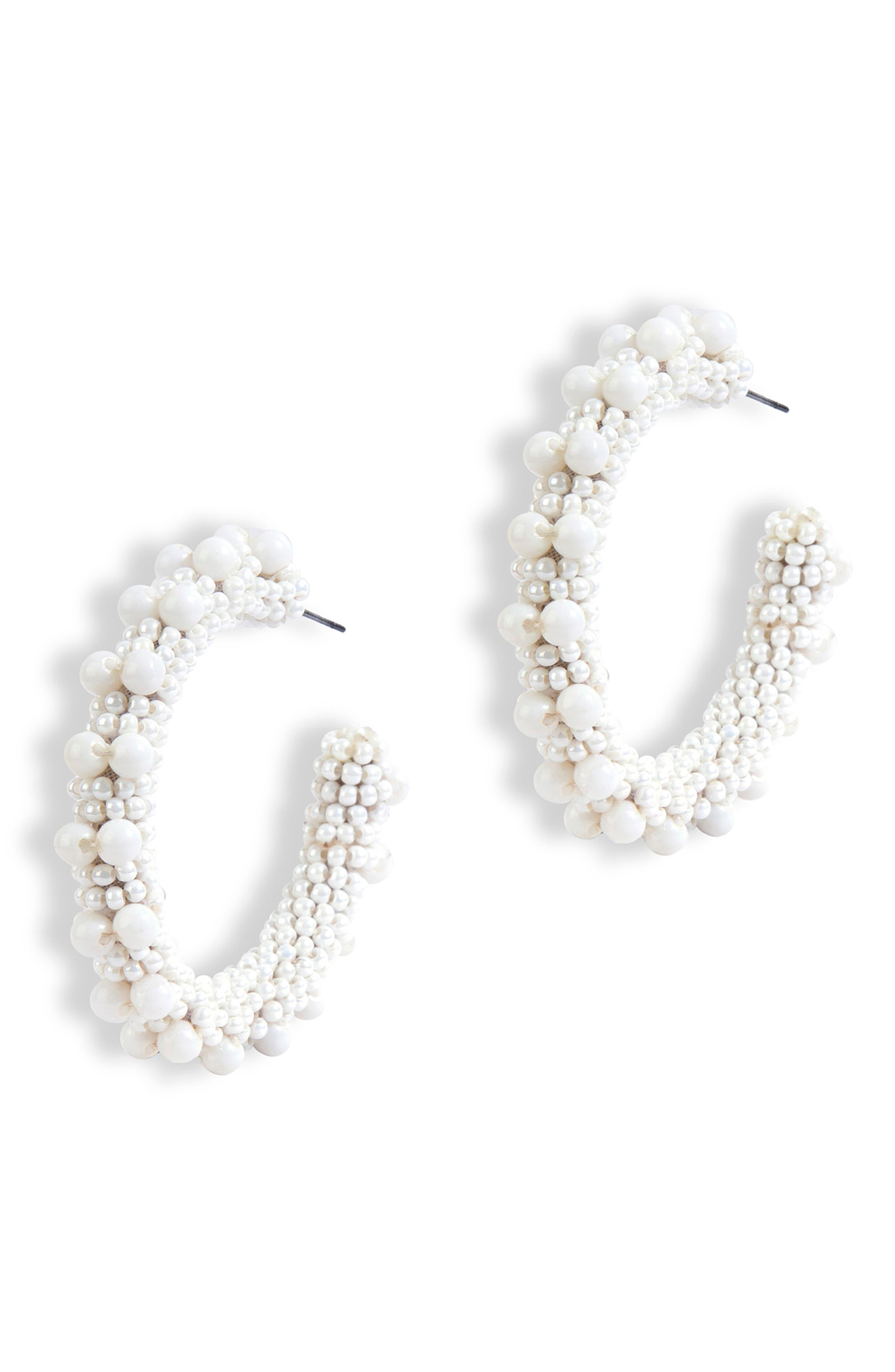 Vidya Beaded Hoop Earrings