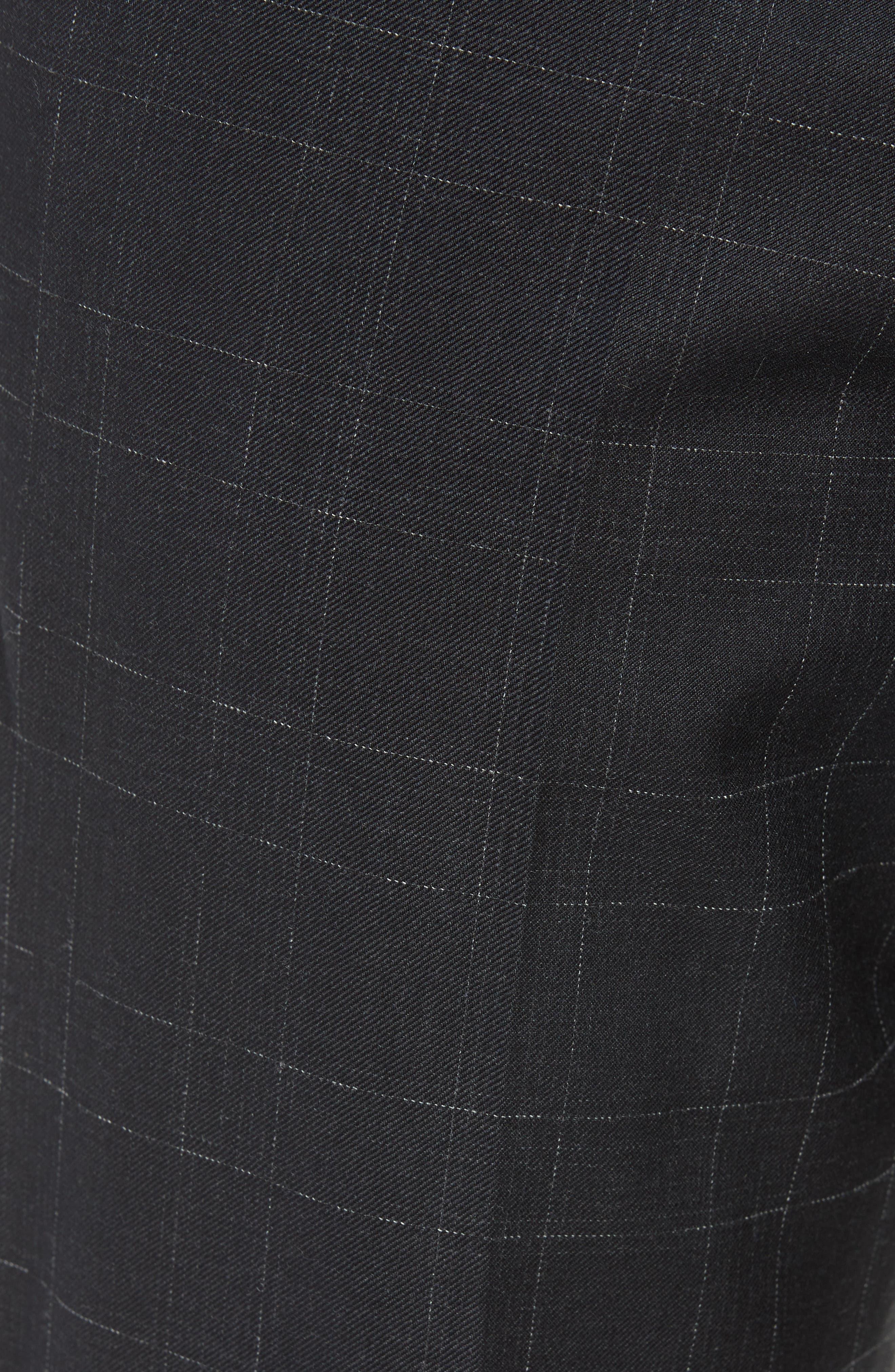 ,                             Genesis Flat Front Plaid Wool Trousers,                             Alternate thumbnail 6, color,                             020