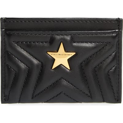 Stella Mccartney Star Faux Leather Card Case - Black