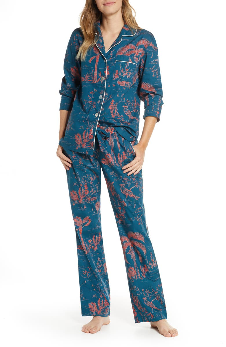 THE LAZY POET Emma Pajamas, Main, color, RED PEACOCK