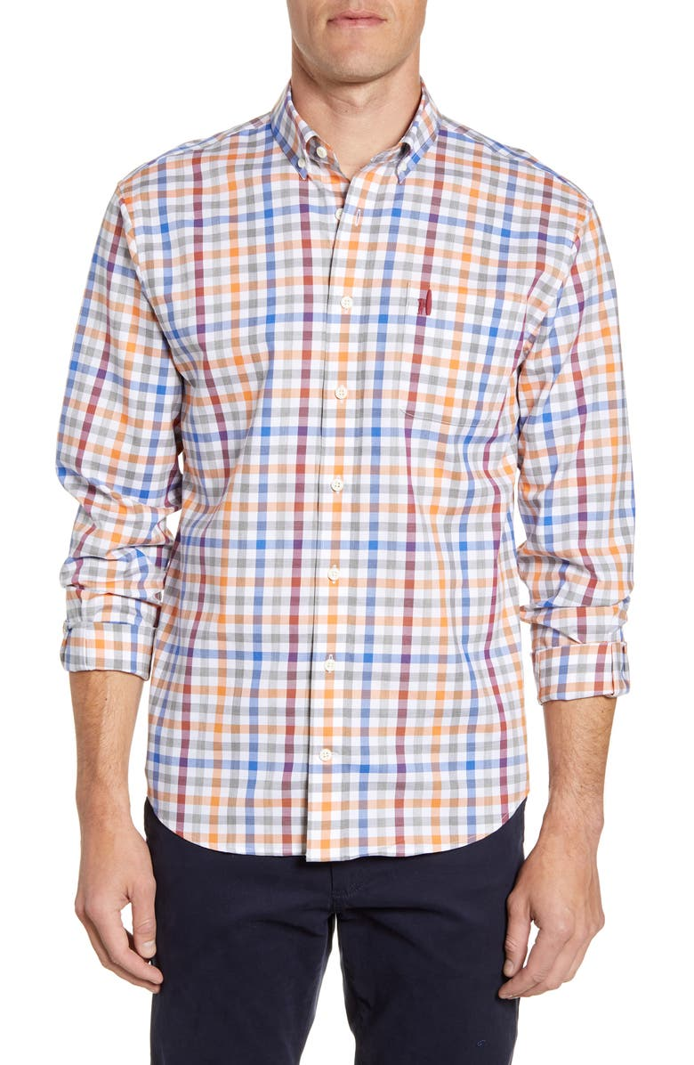 JOHNNIE-O Jackson Check Button-Down Shirt, Main, color, 600