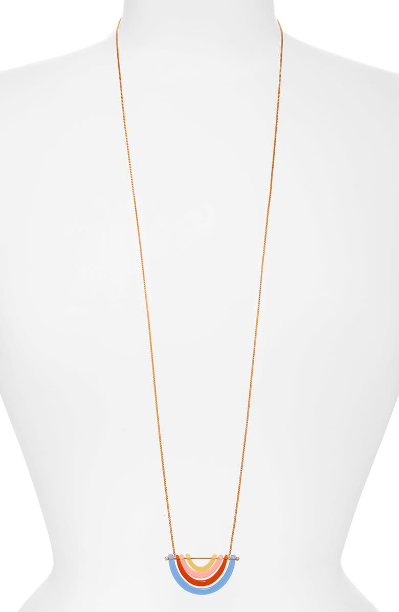 MADEWELL Fan Pendant Necklace, Main, color, 200