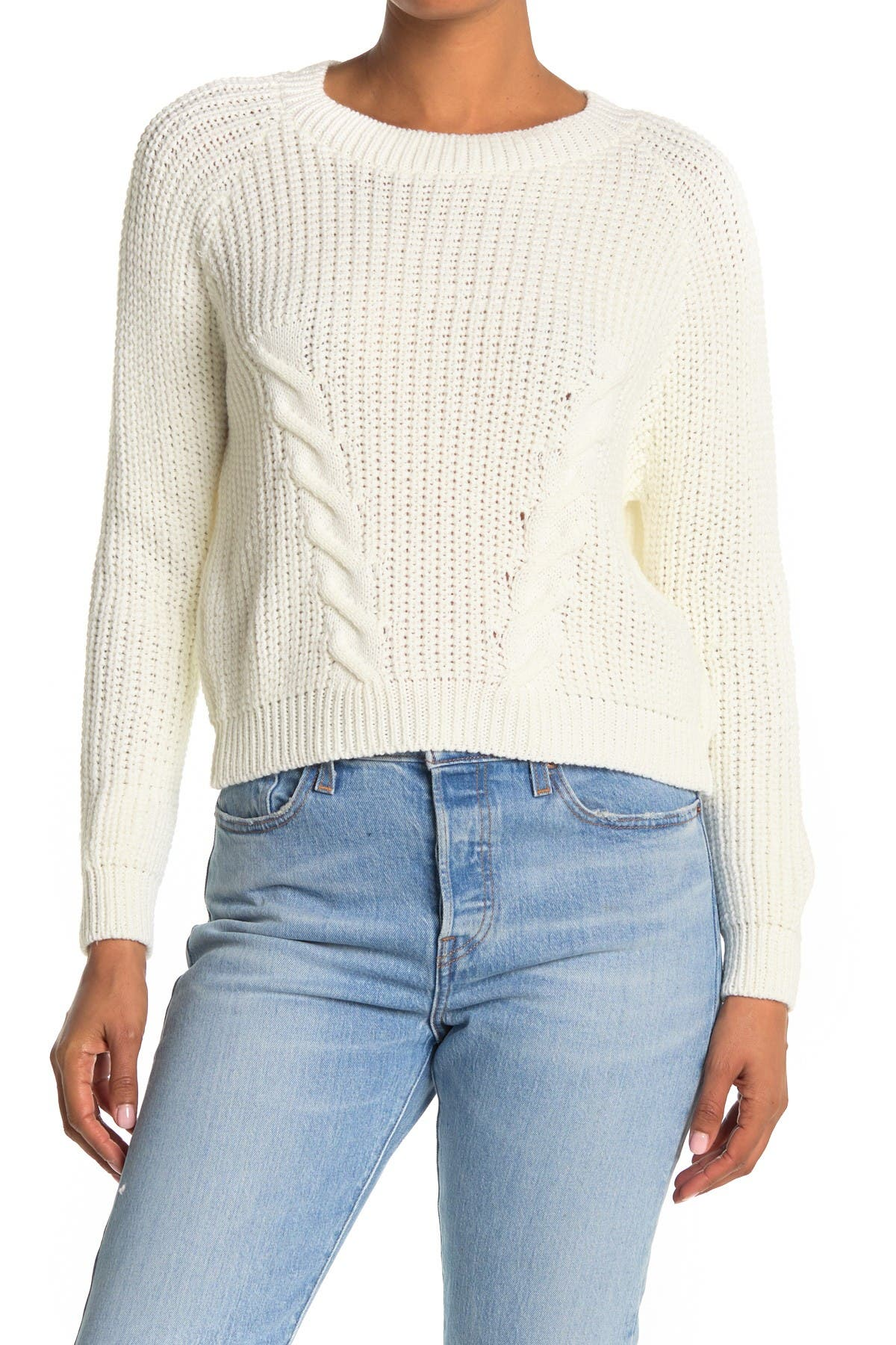 Image of Cotton Emporium Cable Knit Pullover Sweater