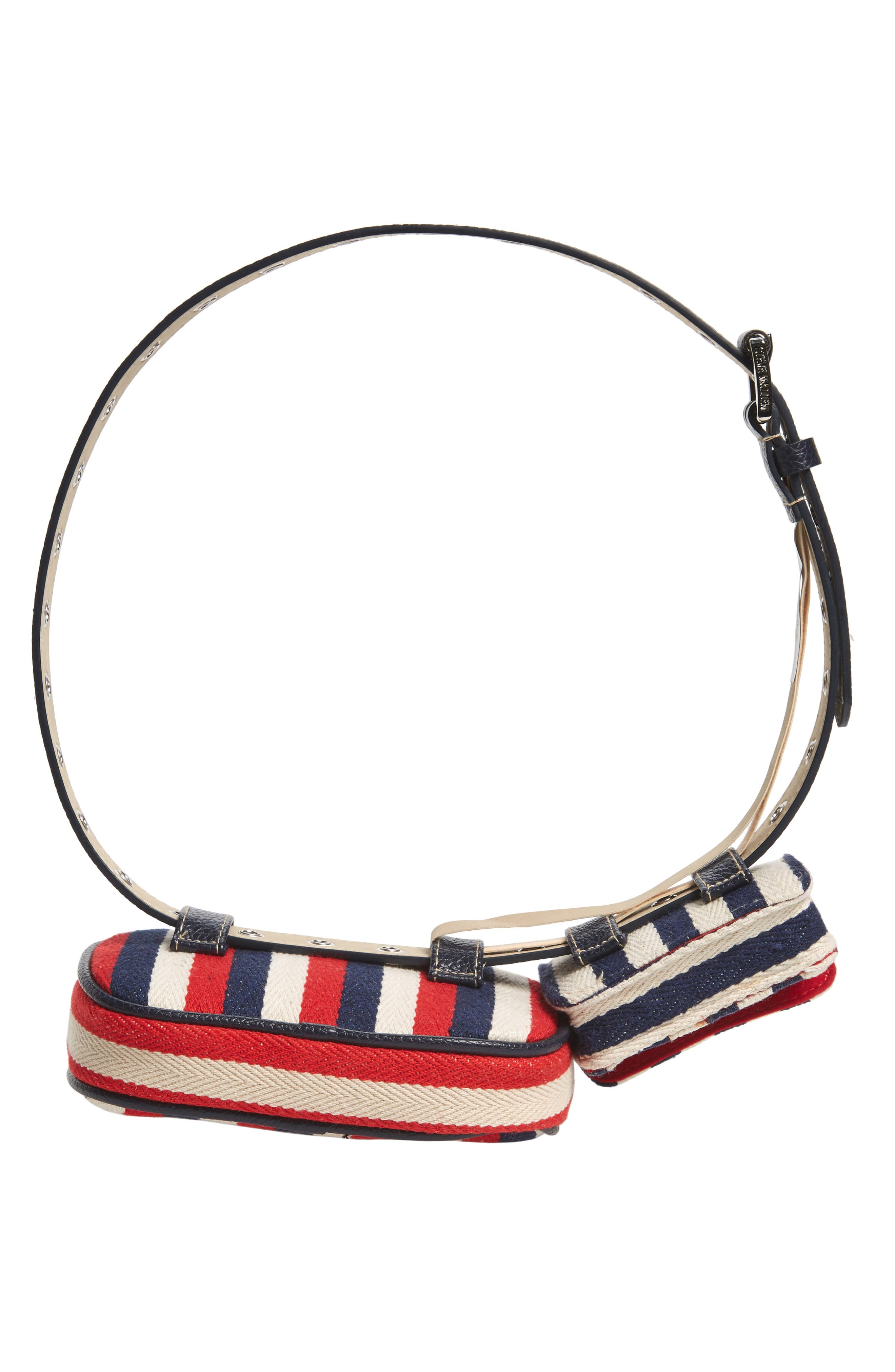 ,                             Nautical Stripe Double Belt Bag,                             Alternate thumbnail 7, color,                             NAVY