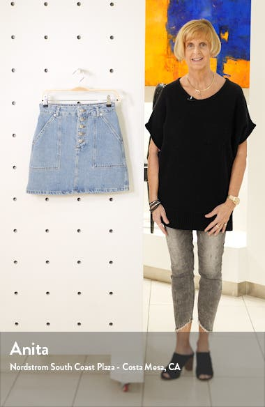 Denim Button Miniskirt, sales video thumbnail