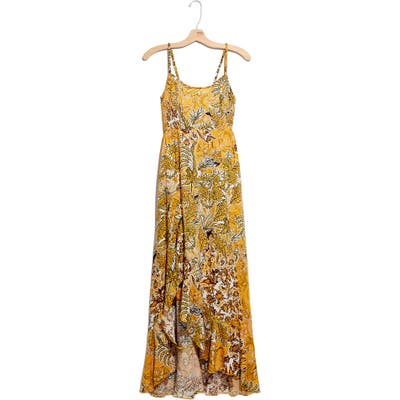 Free People Forever Yours Smocked Slipdress, Yellow