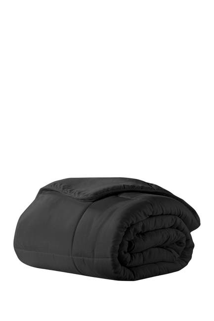 Image of Ella Jayne All-Season Super Soft Triple Brushed Microfiber Down-Alternative Comforter - Black