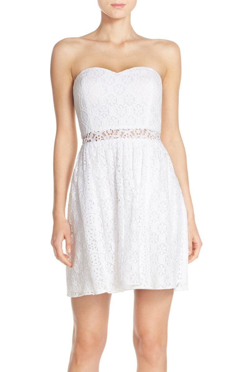 LILLY PULITZER<SUP>®</SUP> Lace Fit & Flare Dress, Main, color, 115