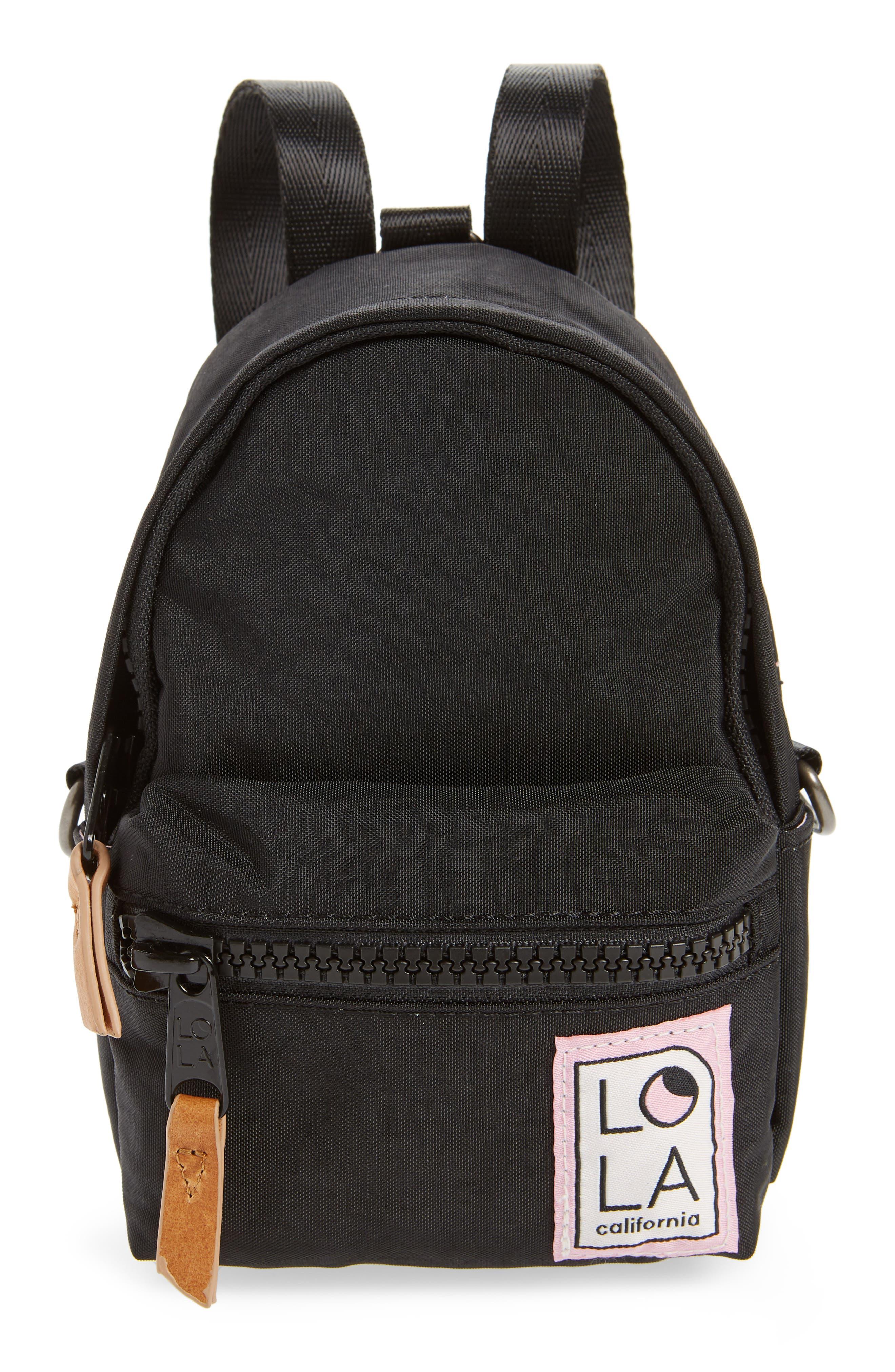 Lola Los Angeles Stargazer Mini Convertible Backpack - Black