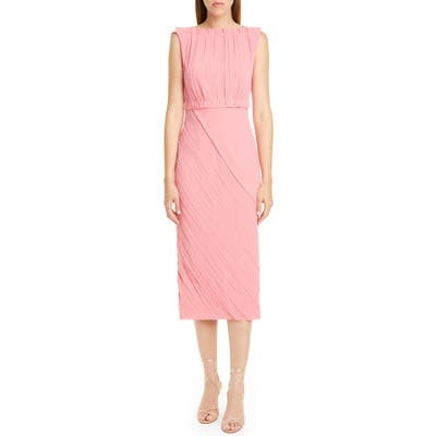 Jason Wu Collection Crinkled Satin Back Crepe Dress, Pink