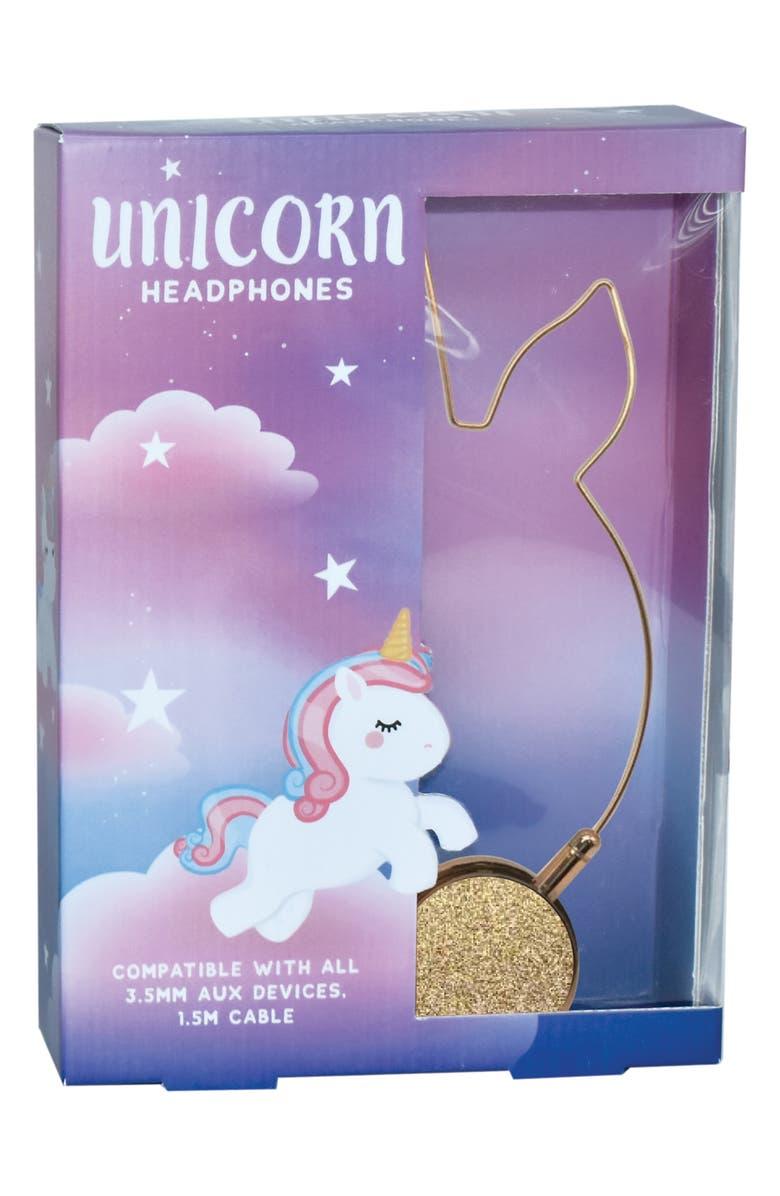 ISCREAM Unicorn Headphones, Main, color, GOLD