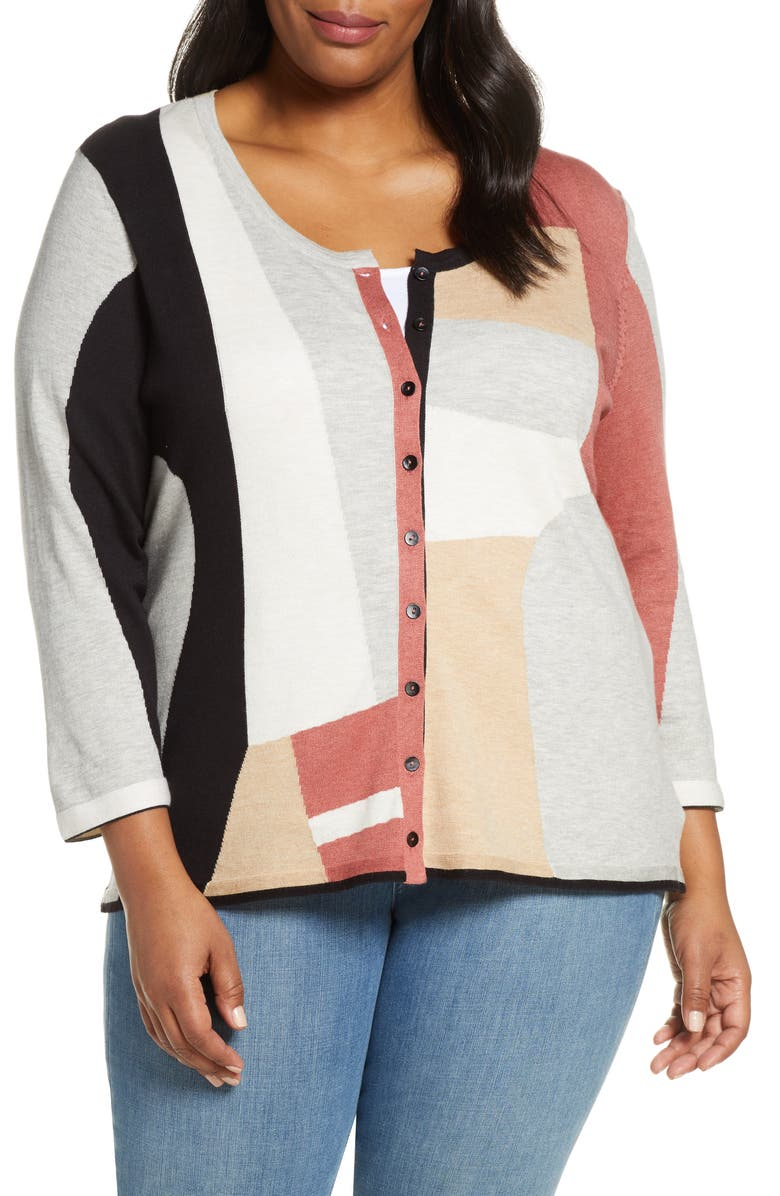 NIC+ZOE Come Together Cardigan, Main, color, MULTI