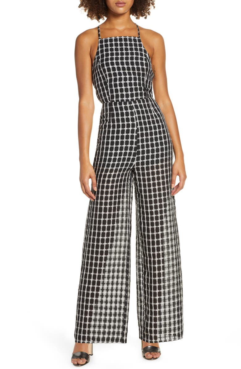 Finders Keepers Picnic Strappy Back Wide Leg Jumpsuit