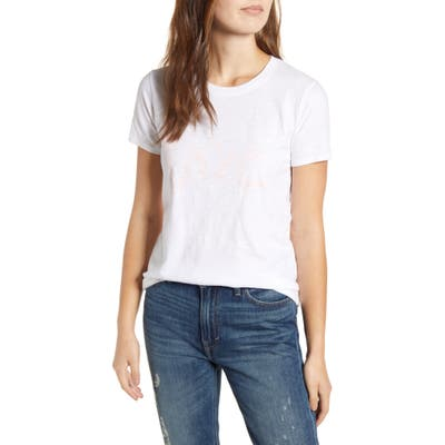 Lucky Brand Love Graphic Tee, White