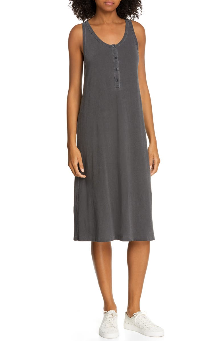 THE GREAT. Slim Henley Tank Dress, Main, color, 002
