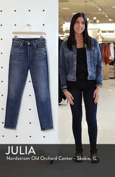 Olivia High Waist Ankle Slim Jeans, sales video thumbnail