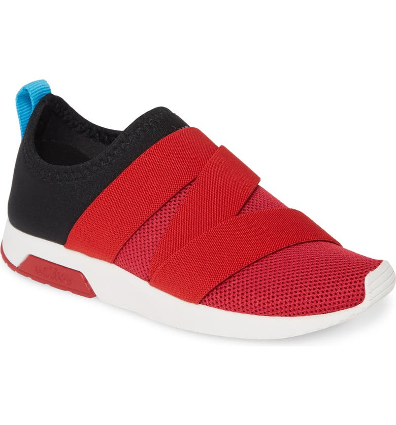 NATIVE SHOES Phoenix Slip-On Vegan Sneaker, Main, color, SKI PATROL RED/ BLACK/ WHITE
