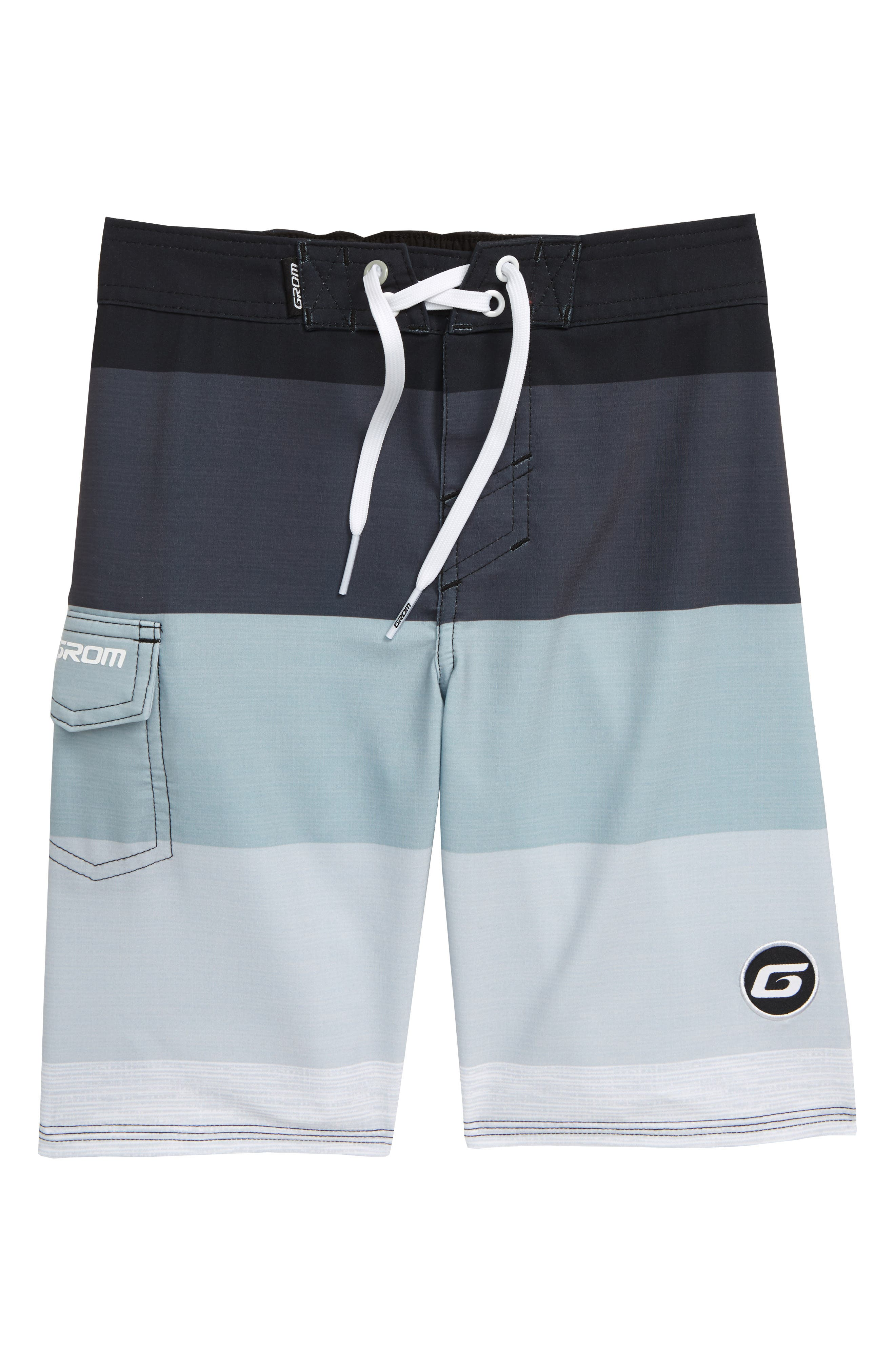 Boys Grom Scrimmage Board Shorts Size S (67)  Grey