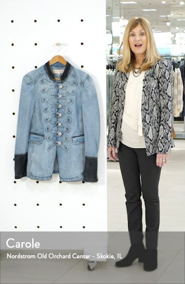 Seamed & Structured Denim Military Jacket, sales video thumbnail