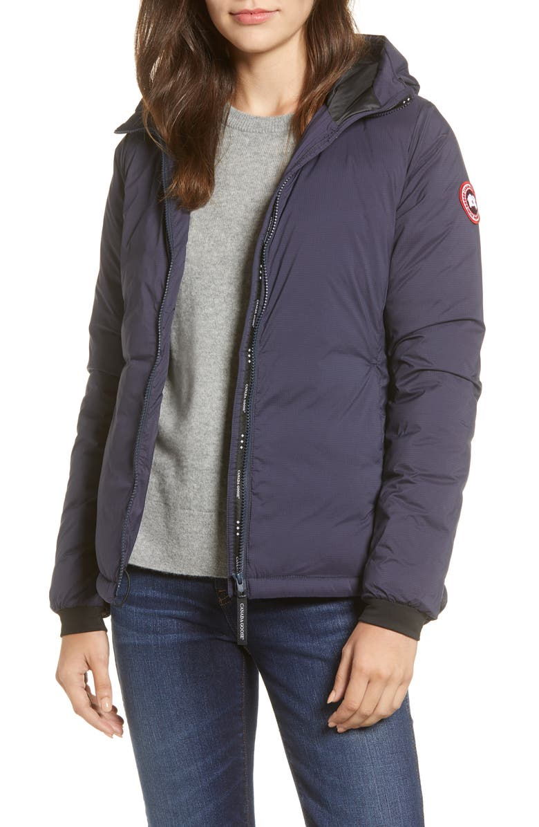 CANADA GOOSE Camp Down Hooded Water Resistant Jacket, Main, color, NAVY