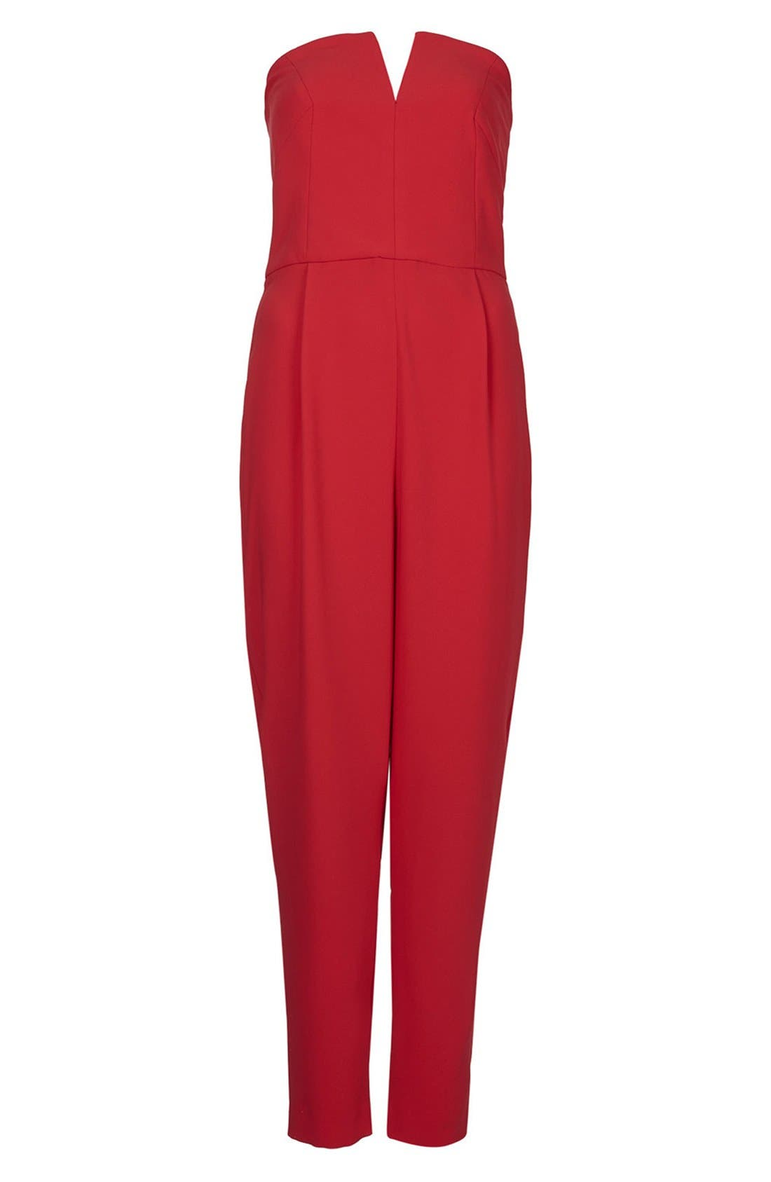 ,                             Plunge Bandeau Jumpsuit,                             Main thumbnail 5, color,                             600