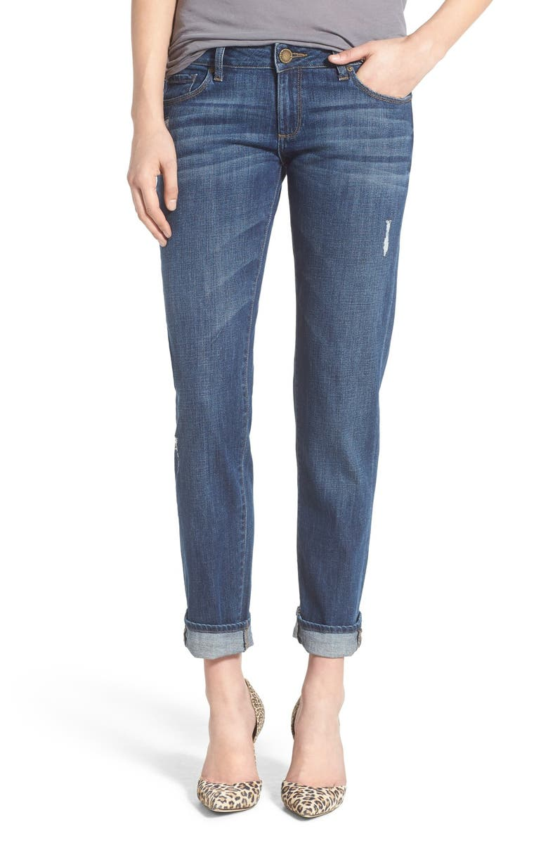 DL1961 'Riley' Distressed Boyfriend Jeans, Main, color, 405