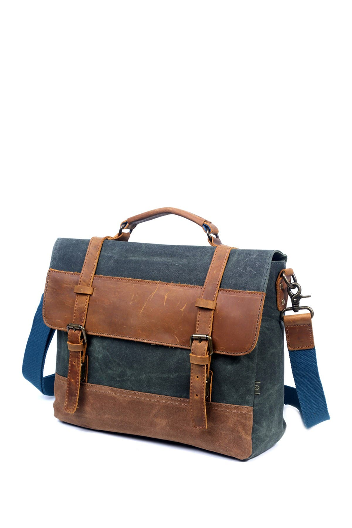 Image of TSD Stone Creek Waxed Canvas Briefcase