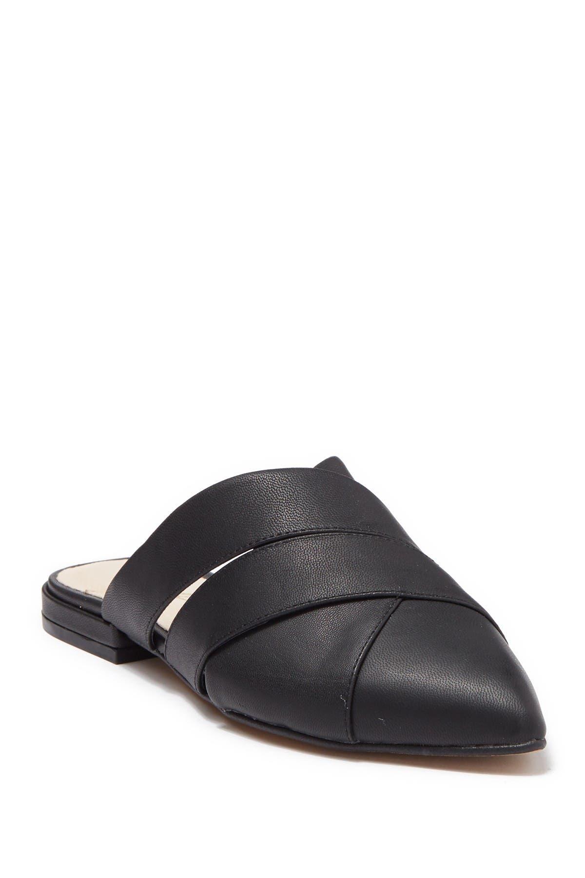 Image of 42 GOLD Carra Leather Slip-On Sandal