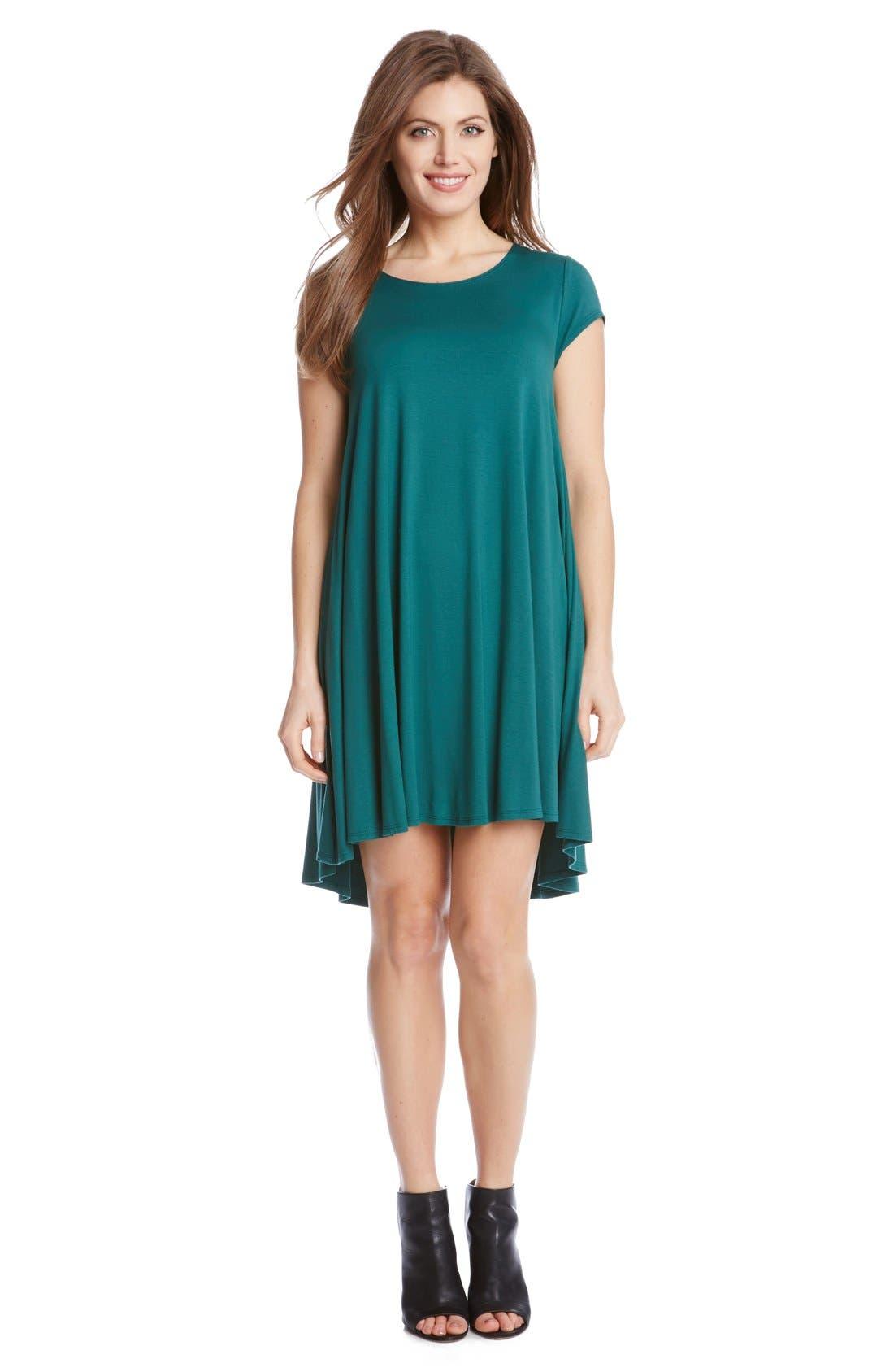 ,                             'Maggie' Cap Sleeve Trapeze Dress,                             Alternate thumbnail 13, color,                             311