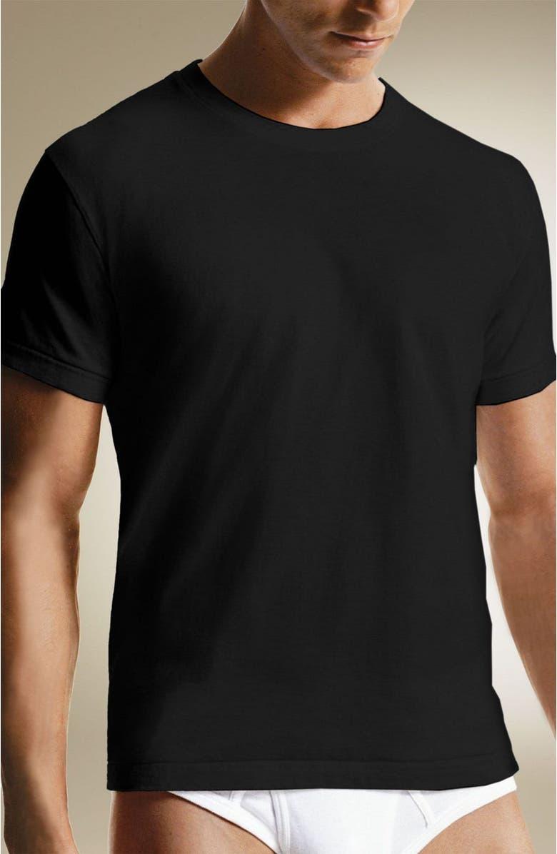 CALVIN KLEIN 'U9001' Cotton Crewneck T-Shirt, Main, color, BLK