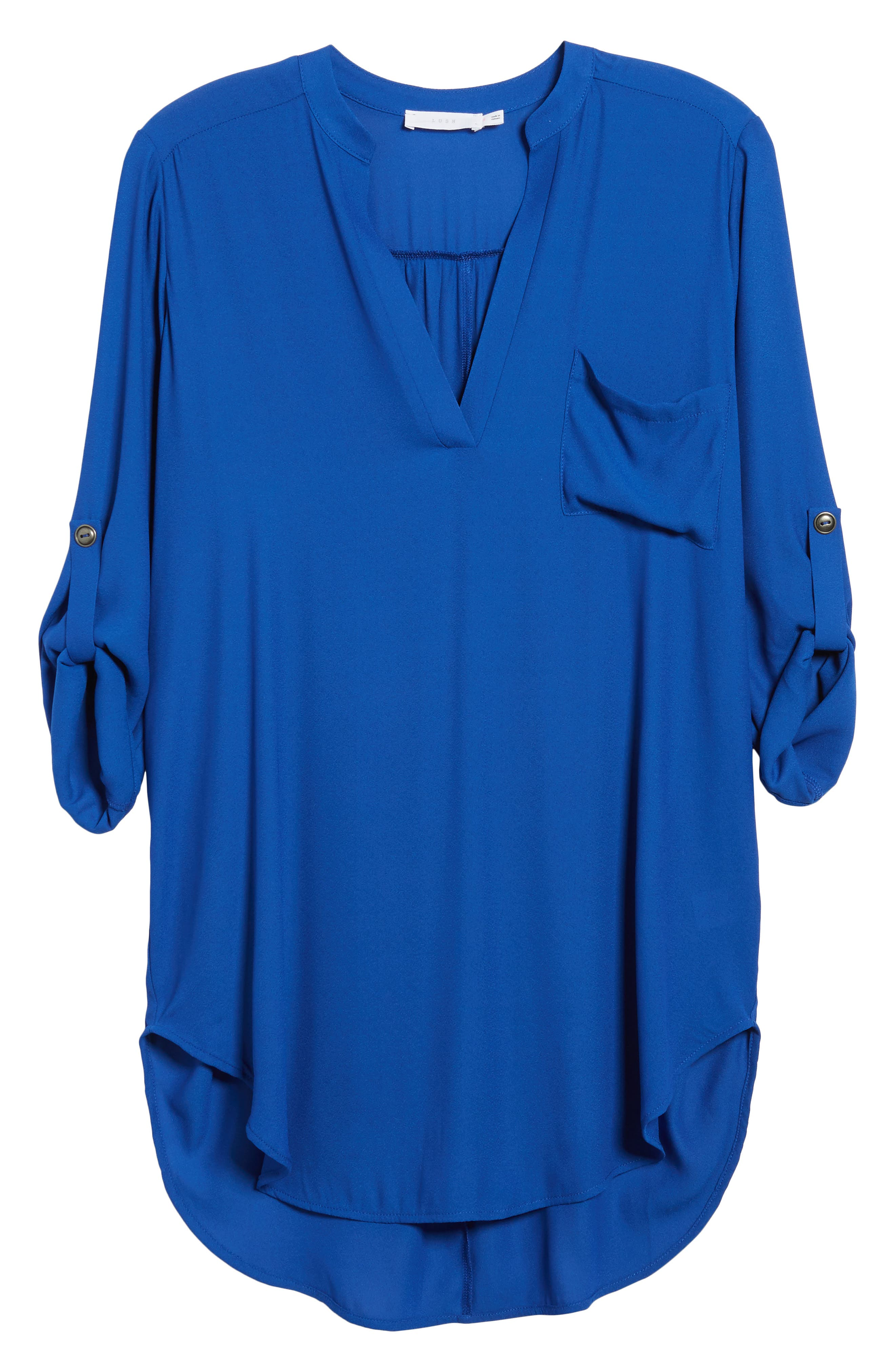 ,                             Perfect Roll Tab Sleeve Tunic,                             Alternate thumbnail 114, color,                             462