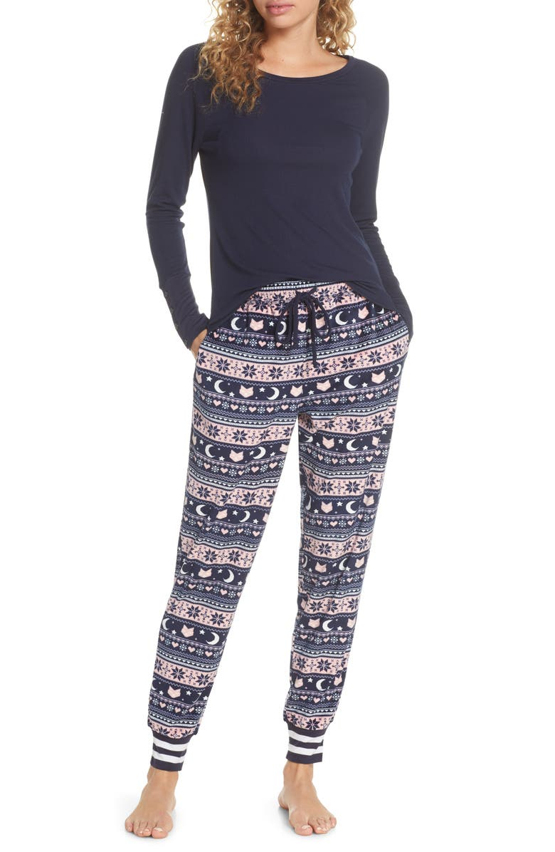HONEYDEW INTIMATES Cocoa Cozy Pajamas, Main, color, SILENT NIGHT FAIR ISLE