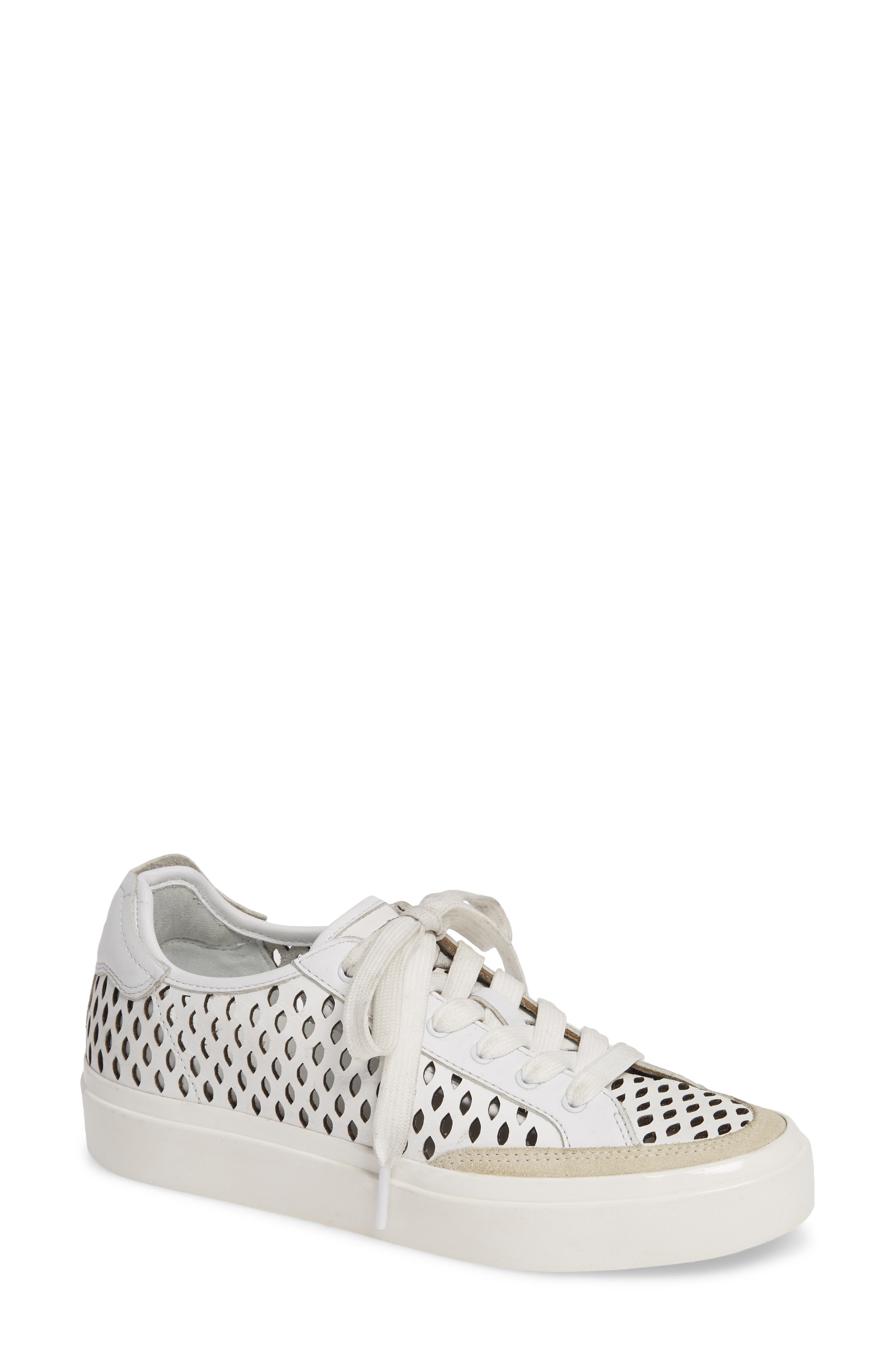 Rag & Bone Army Perforated Low Top Sneaker, White