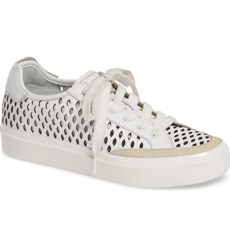 RAG & BONE Army Perforated Low Top Sneaker, Main, color, WHITE