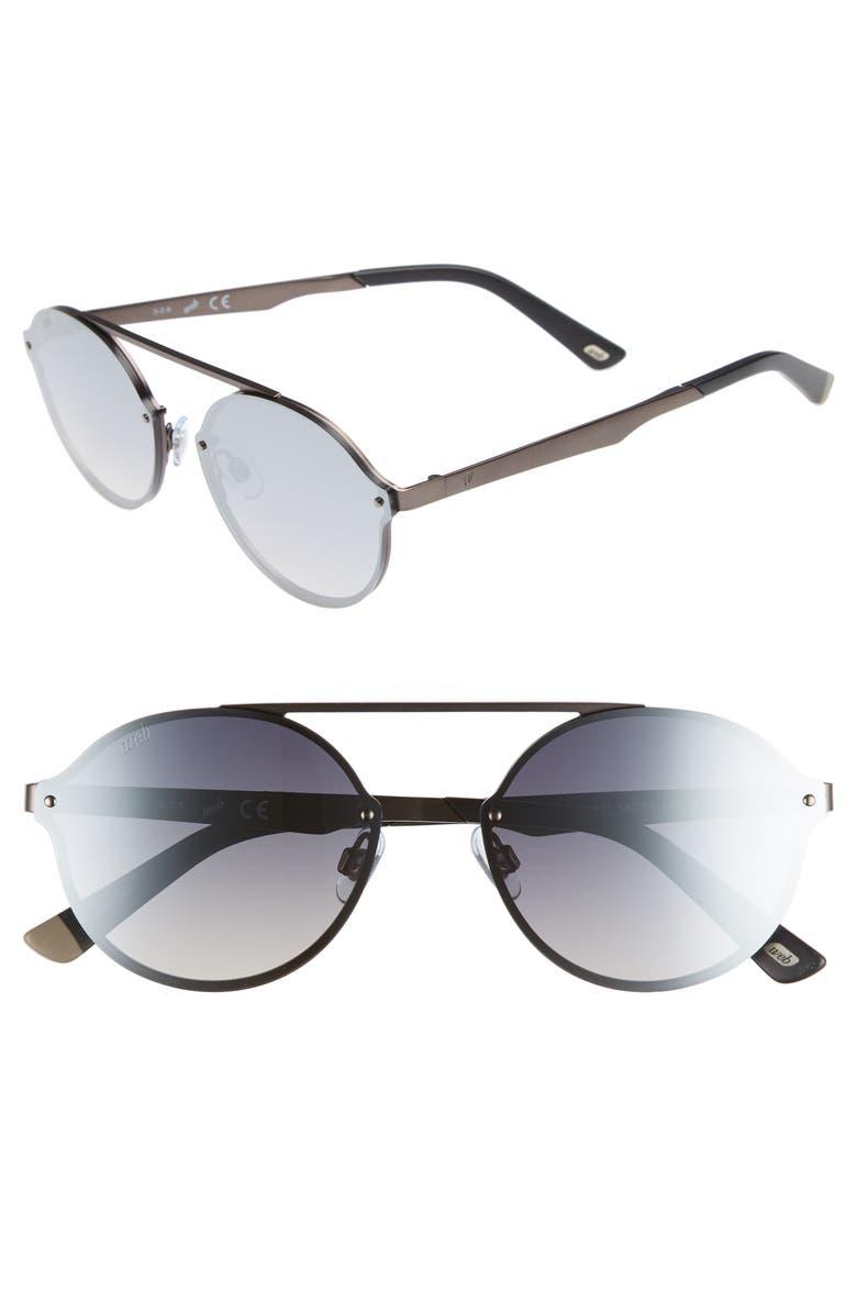 WEB 58mm Round Sunglasses, Main, color, 040